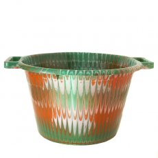 アフリカ プラスチック セネガル プラスチック持ち手付きの桶(グリーン 12リットル)