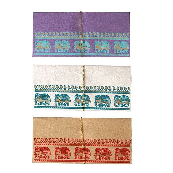 インド chimanlals(チマンラール) の封筒 ゾウ B【画像2】