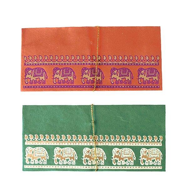 インド chimanlals(チマンラール) の封筒 ゾウ B【画像3】