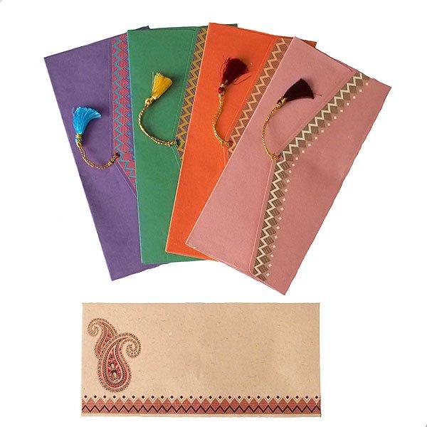 インド chimanlals(チマンラール)封筒 DHANANJAY ペイズリー A