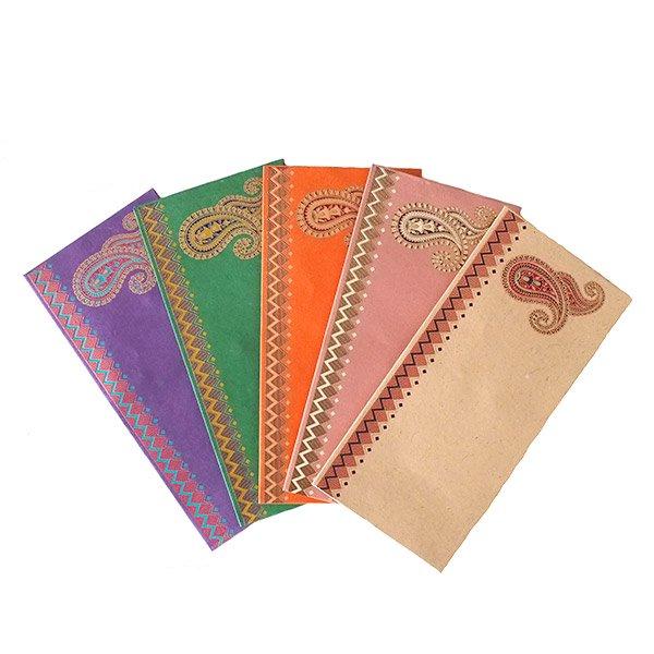 インド chimanlals(チマンラール)封筒 DHANANJAY ペイズリー A【画像2】
