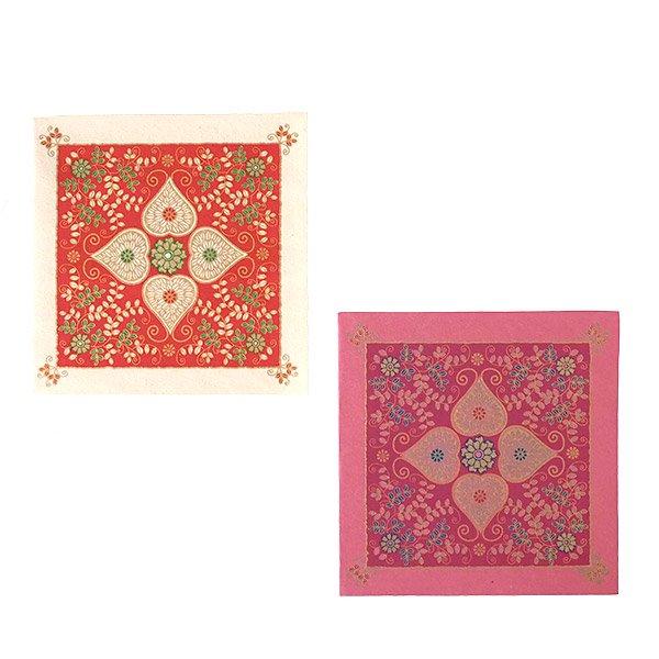 インド chimanlals(チマンラール) メッセージカード(模様 封筒付き B)【画像2】