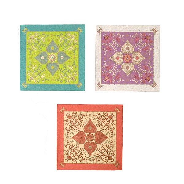 インド chimanlals(チマンラール) メッセージカード(模様 封筒付き B)【画像3】