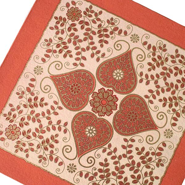 インド chimanlals(チマンラール) メッセージカード(模様 封筒付き B)【画像4】