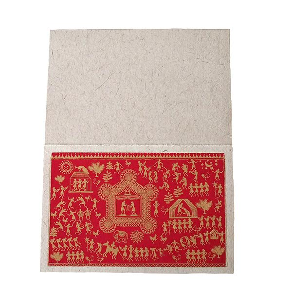 インド chimanlals(チマンラール)ワルリー画 メッセージカード 5色(封筒付き)【画像5】