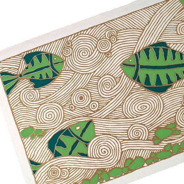 インド chimanlals(チマンラール)カラフルな魚 メッセージカード(封筒付き)【画像4】