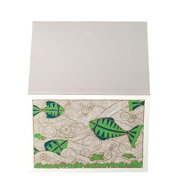 インド chimanlals(チマンラール)カラフルな魚 メッセージカード(封筒付き)【画像5】