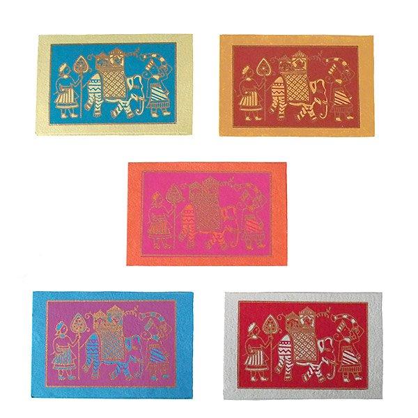 インド chimanlals(チマンラール)メッセージカード(マハラジャの行進  封筒なし)