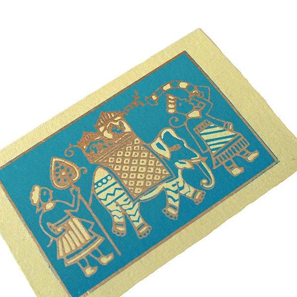 インド chimanlals(チマンラール)メッセージカード(マハラジャの行進  封筒なし)【画像2】