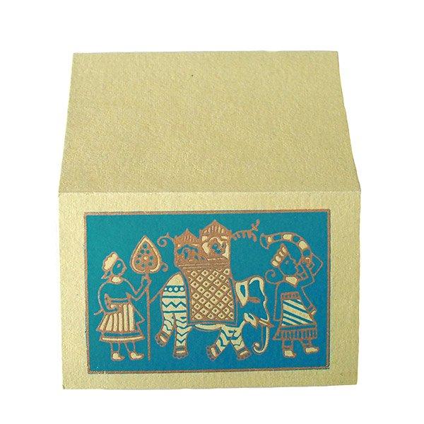インド chimanlals(チマンラール)メッセージカード(マハラジャの行進  封筒なし)【画像3】