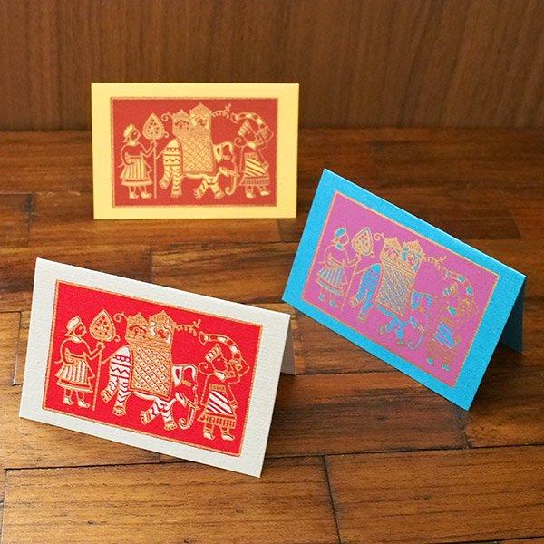 インド chimanlals(チマンラール)メッセージカード(マハラジャの行進  封筒なし)【画像4】