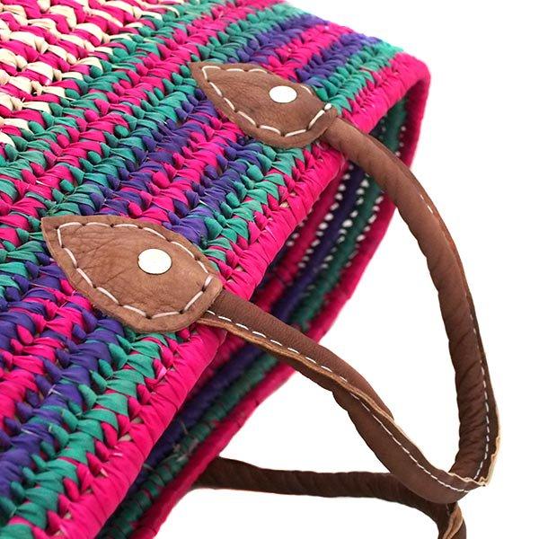 モロッコ  かごバッグ(一点もの ピンク)
