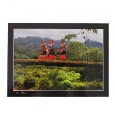 ベトナム 雑貨 ベトナム ポストカード(花モン族の女の子達)