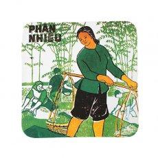 ランチマット / コースター ベトナム プロパガンダ アート コースター(C)