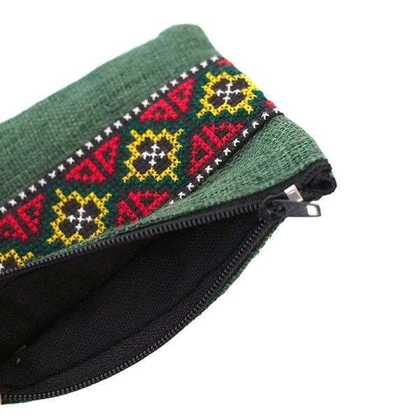 タイ ヤオ族刺繍のカラフルポーチ