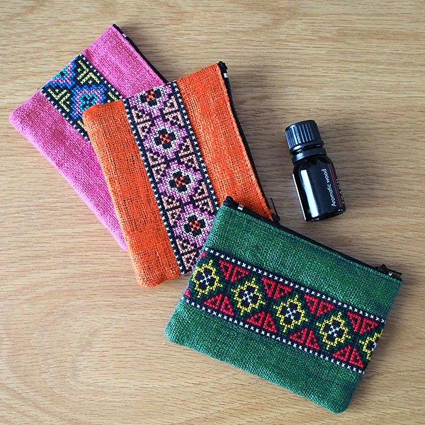 タイ ヤオ族刺繍 ポーチ(3色)【画像7】