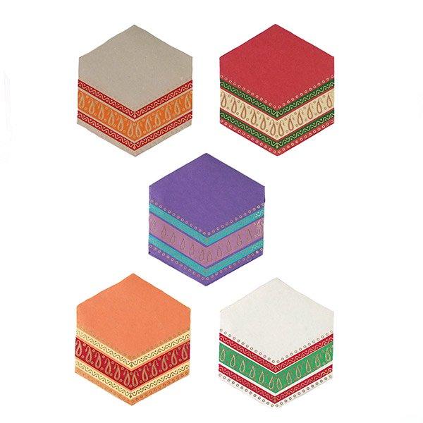 インド  chimanlals (チマンラール)ペイズリー 六角形 メッセージカード B( 封筒なし)【画像2】