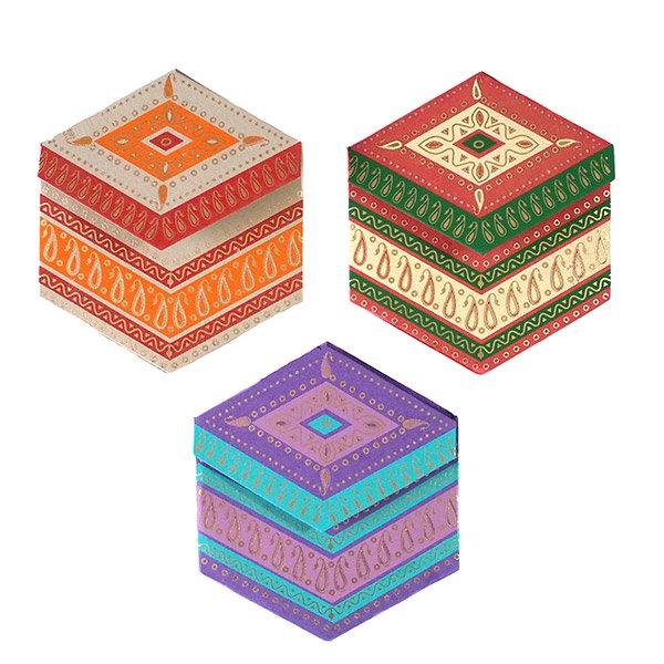 インド  chimanlals (チマンラール)ペイズリー 六角形 メッセージカード B( 封筒なし)【画像3】