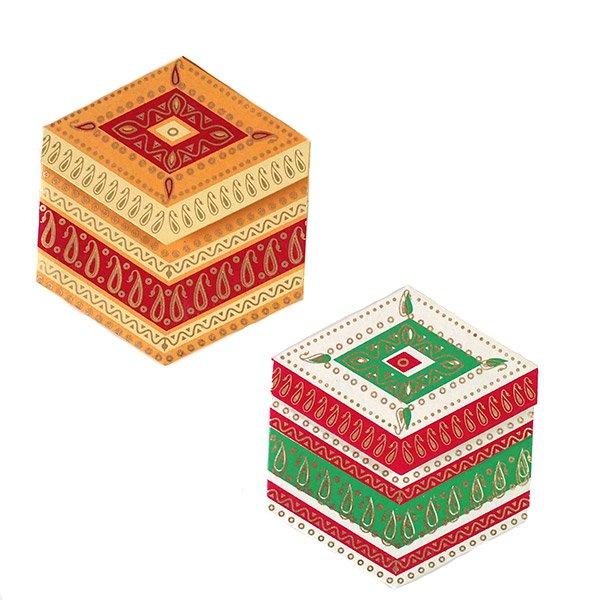 インド  chimanlals (チマンラール)ペイズリー 六角形 メッセージカード B( 封筒なし)【画像4】