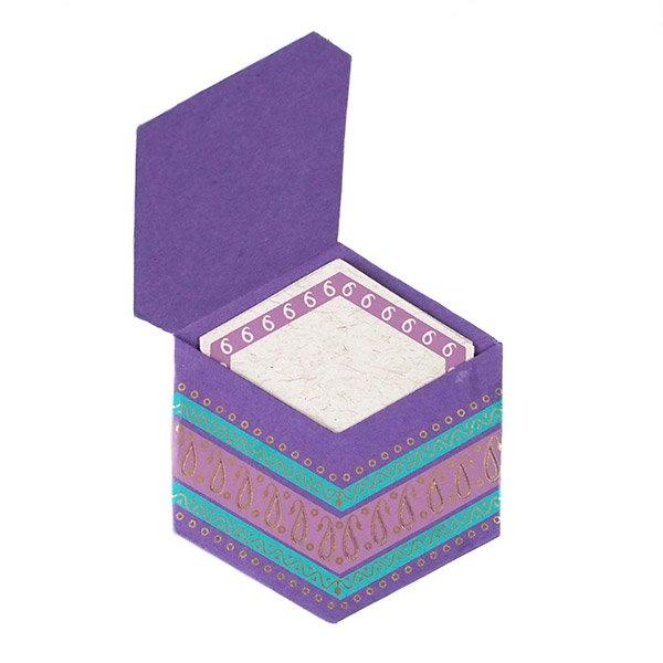 インド  chimanlals (チマンラール)ペイズリー 六角形 メッセージカード B( 封筒なし)【画像5】