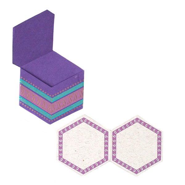 インド  chimanlals (チマンラール)ペイズリー 六角形 メッセージカード B( 封筒なし)【画像6】