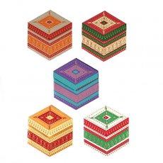 インド  chimanlals メッセージカード(ペイズリーA 六角形 封筒なし)