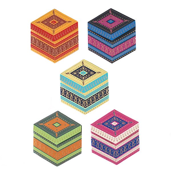 インド  chimanlals (チマンラール) ペイズリー 六角形 メッセージカードB(封筒なし)