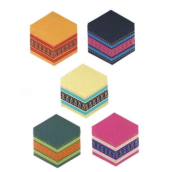 インド  chimanlals (チマンラール) ペイズリー 六角形 メッセージカードB(封筒なし)【画像2】