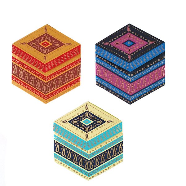 インド  chimanlals (チマンラール) ペイズリー 六角形 メッセージカードB(封筒なし)【画像3】