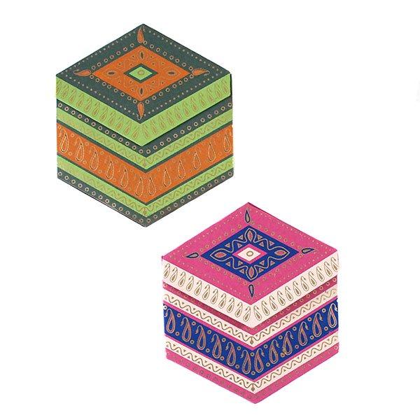 インド  chimanlals (チマンラール) ペイズリー 六角形 メッセージカードB(封筒なし)【画像4】