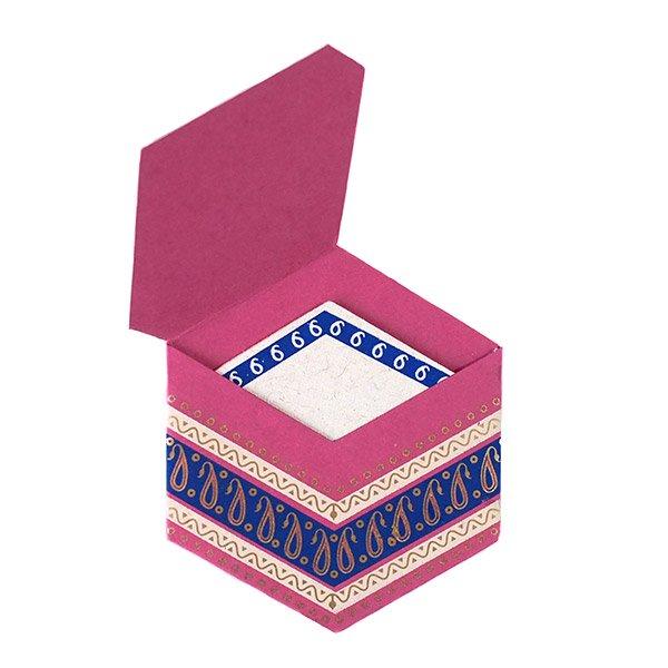 インド  chimanlals (チマンラール) ペイズリー 六角形 メッセージカードB(封筒なし)【画像5】