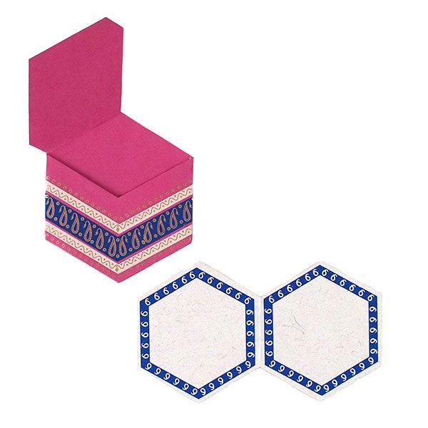 インド  chimanlals (チマンラール) ペイズリー 六角形 メッセージカードB(封筒なし)【画像6】