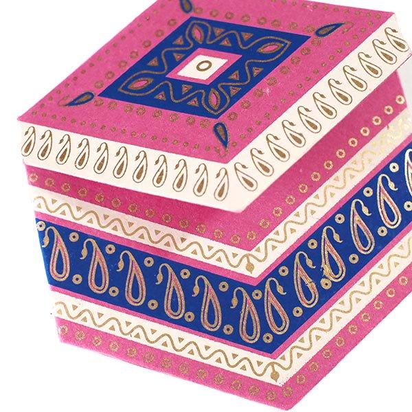 インド  chimanlals (チマンラール) ペイズリー 六角形 メッセージカードB(封筒なし)【画像7】