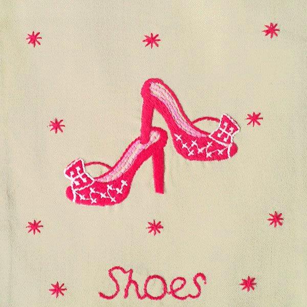 ベトナム 刺繍 巾着(ミニサイズ Shoes 1)【画像2】
