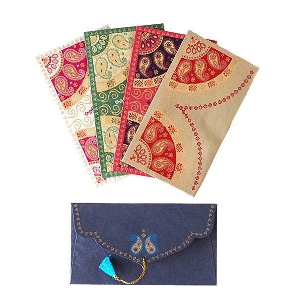 インド chimanlals(チマンラール)の封筒 ペイズリーB