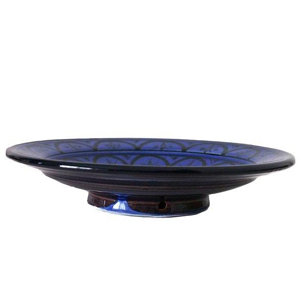 モロッコ サフィ 陶器 皿(ブルー 20cm)【画像3】