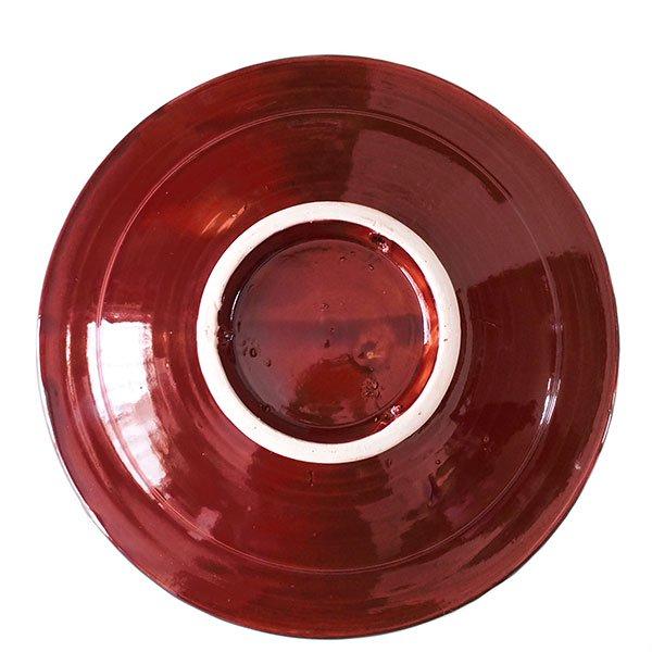 モロッコ サフィ 陶器 皿(赤茶 20cm)【画像2】