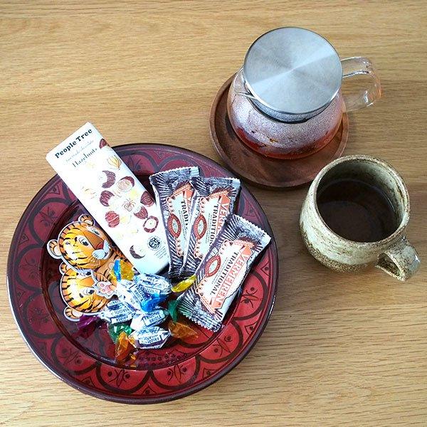 モロッコ サフィ 陶器 皿(赤茶 20cm)【画像4】