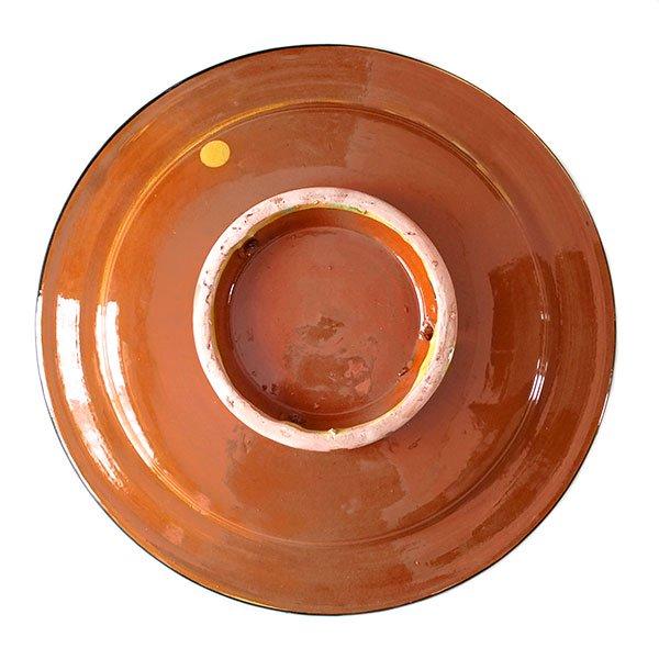 モロッコ サフィ 陶器 皿(イエロー 20cm)【画像2】