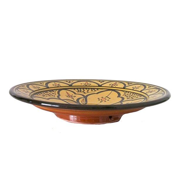 モロッコ サフィ 陶器 皿(イエロー 20cm)【画像3】