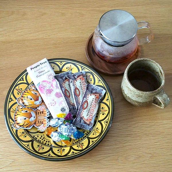 モロッコ サフィ 陶器 皿(イエロー 20cm)【画像4】