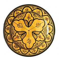 モロッコ サフィ 陶器 皿(イエロー 20cm)