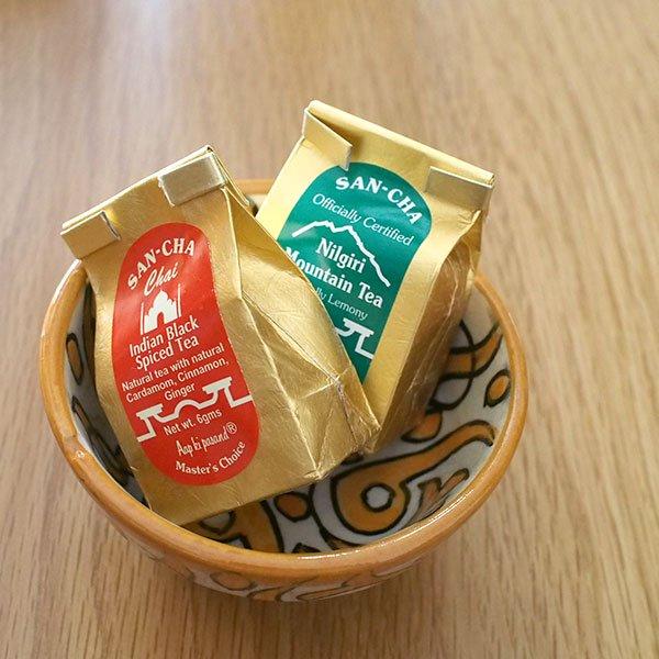 モロッコ フェズ 陶器 ボウル  小(オレンジ 9cm)【画像3】