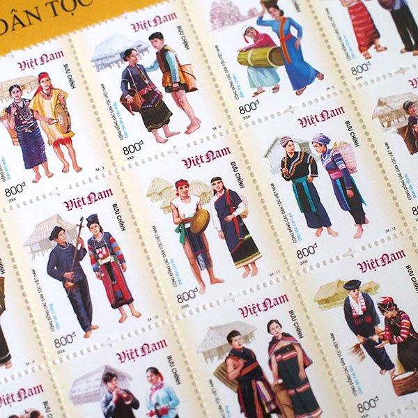 ベトナム民族切手シート