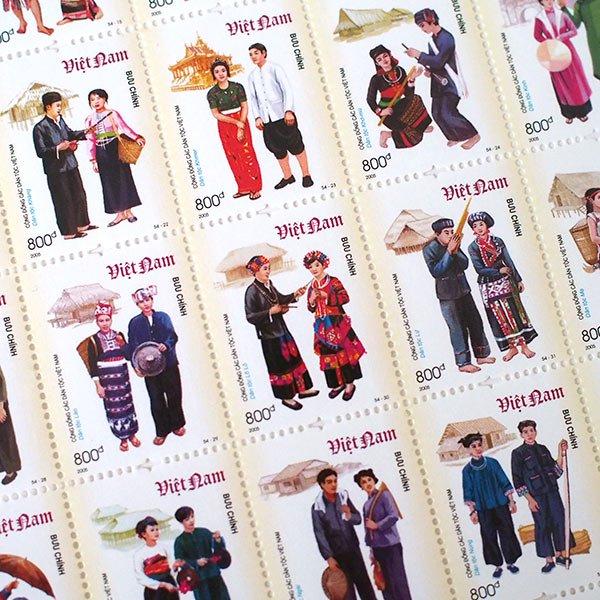 ベトナム 民族 切手 コレクション【画像5】
