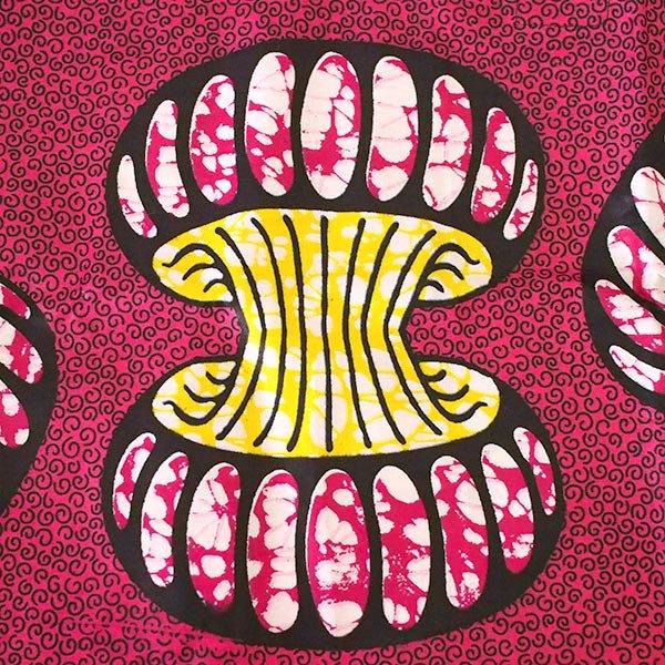 マリ 足踏みミシンで仕立てた パーニュ 巾着 エコバッグ(アコーディオン)【画像3】