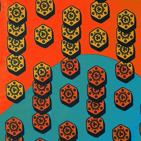 アフリカン プリント布 パーニュ 115×90 カットオフ(ネジ)