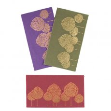 封筒 / タッセル付き インド chimanlals(チマンラール)の封筒 木(B)