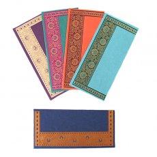 茶・ブラウン 雑貨 インド chimanlals(チマンラール)の封筒 植物と花