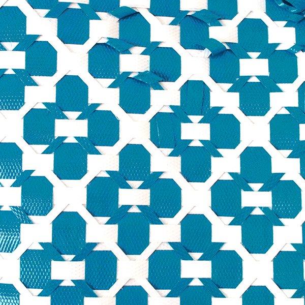 ベトナム プラカゴバッグ(縦29 横32 マチ14.5 ブルー)【画像3】